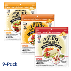 Folios Cheese Wraps - 9-Pack Combo Bundle