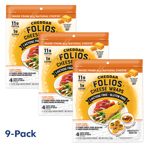 Folios Cheese Wraps - Cheddar 9-Pack Bundle