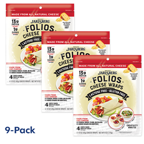 Folios Cheese Wraps - Jarlsberg 9-Pack Bundle