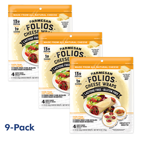 Folios Cheese Wraps - Parmesan 9-Pack Bundle